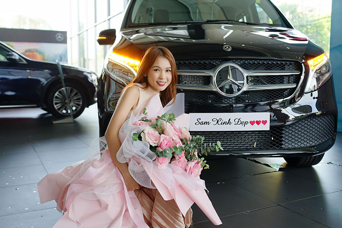 Hot girl Sam tau Mercedes-Benz V250 Luxury hon 2,5 ty dong-Hinh-8