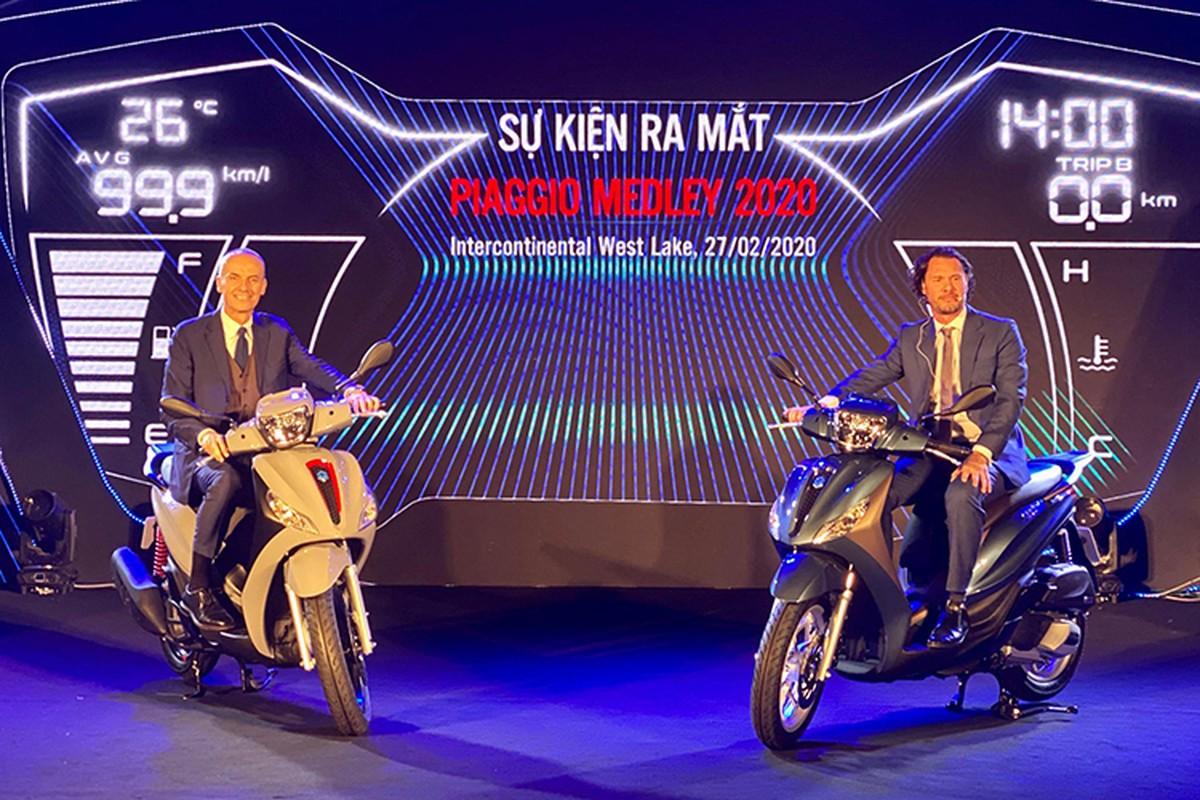 Piaggio Medley 2020 tu 75 trieu tai Viet Nam