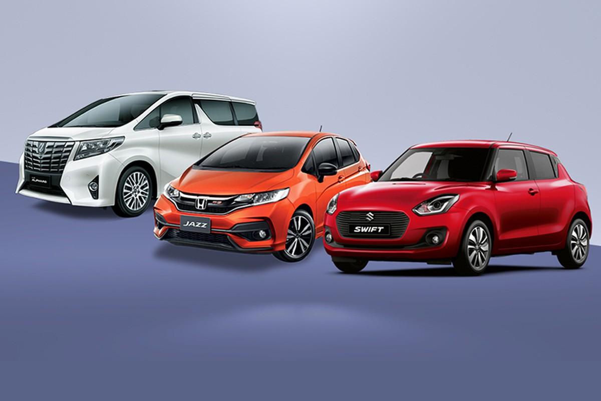 Honda Jazz, Suzuki Swift top dau xe e nhat Viet Nam thang 4/2020