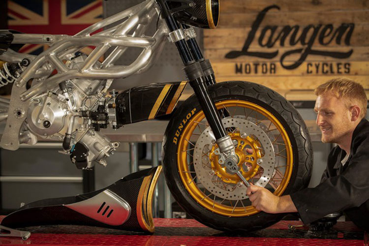 Langen Two Stroke - xe moto Cafe Racer 2 thi ma vang bac ty-Hinh-8