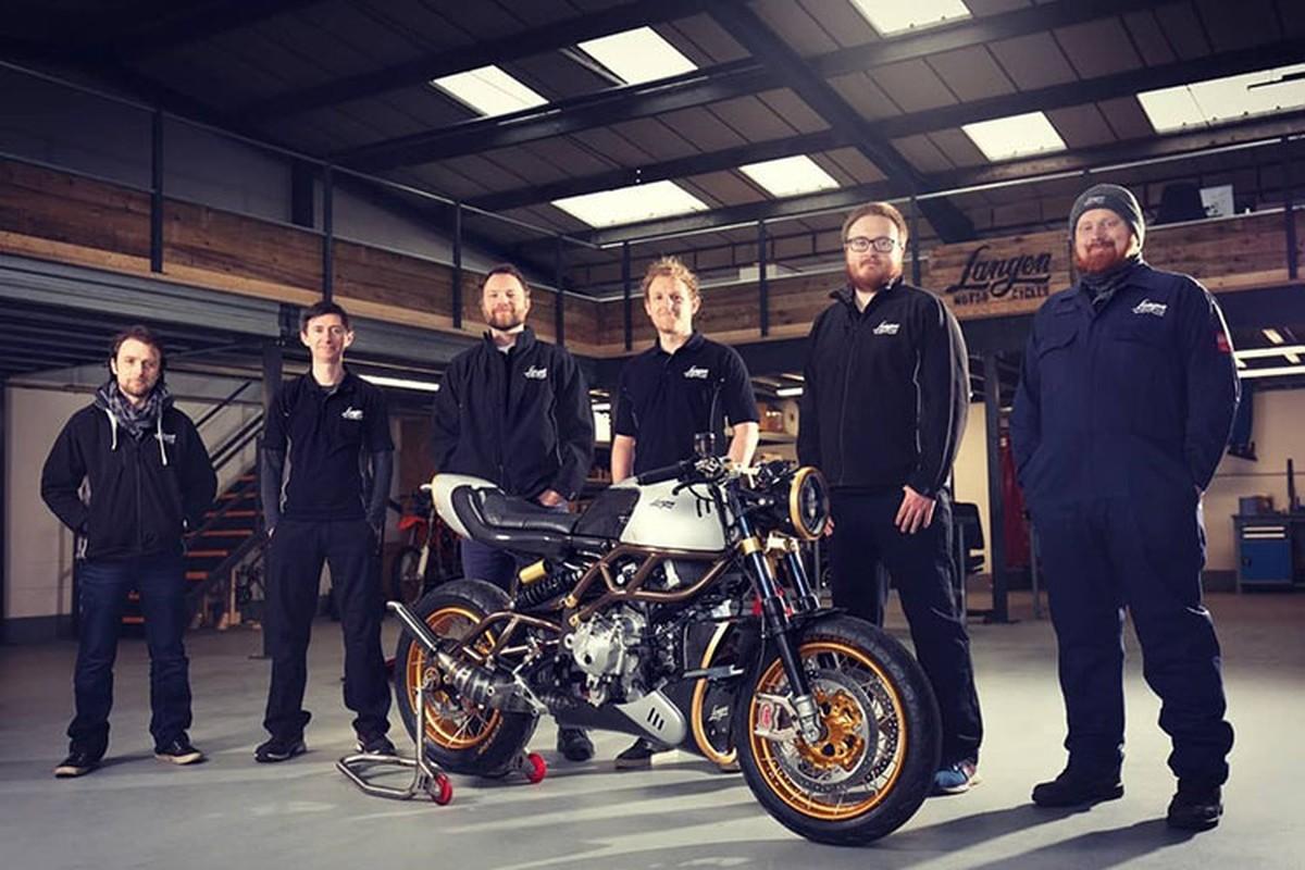Langen Two Stroke - xe moto Cafe Racer 2 thi ma vang bac ty