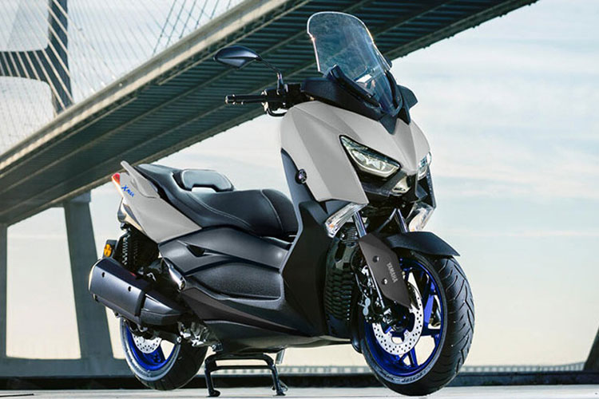 Yamaha Xmax 300 2021 moi - doi thu dang gom cua Honda Forza 300-Hinh-2