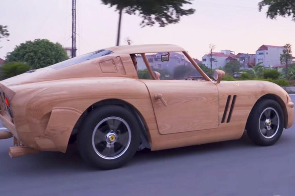 Ferrari GTO 250 bang go tai Bac Ninh doi xe sang Mercedes GLA