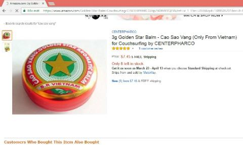 Cao Sao Vang Viet Nam ban 2k, Amazon