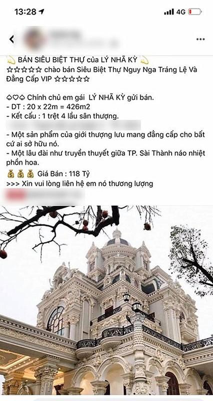 Biet thu ven song Sai Gon cua Ly Nha Ky bi don rao ban hoanh trang co nao?