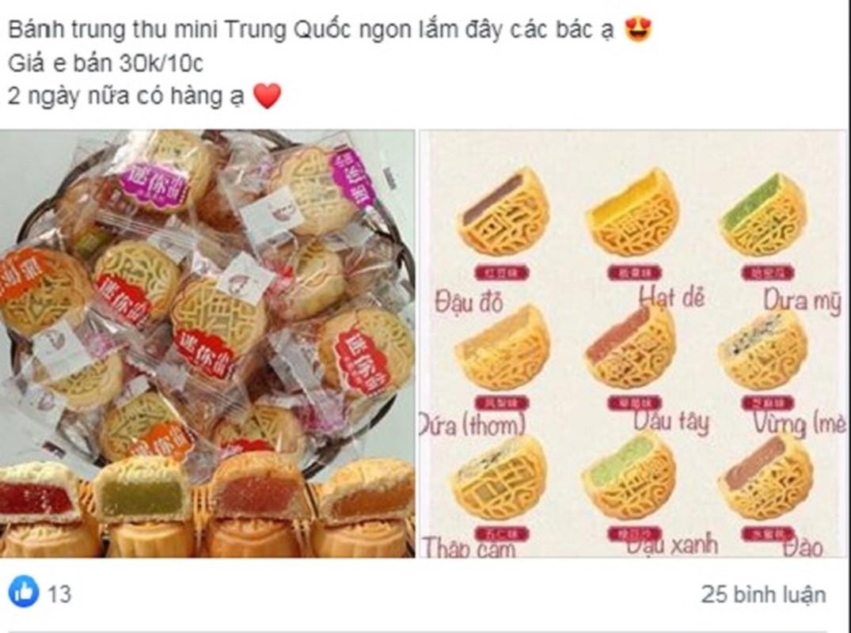 Banh trung thu mini Trung Quoc chi vai nghin dong ban day cho mang