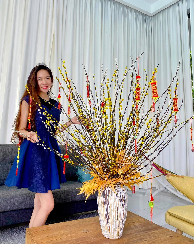 Don Tet Tan Suu 2021, sao Viet trang tri nha dep co nao?-Hinh-13