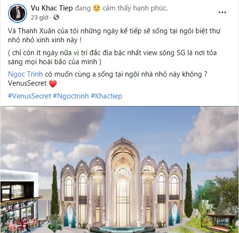 Choang ngop biet thu nguy nga Vu Khac Tiep vua tau