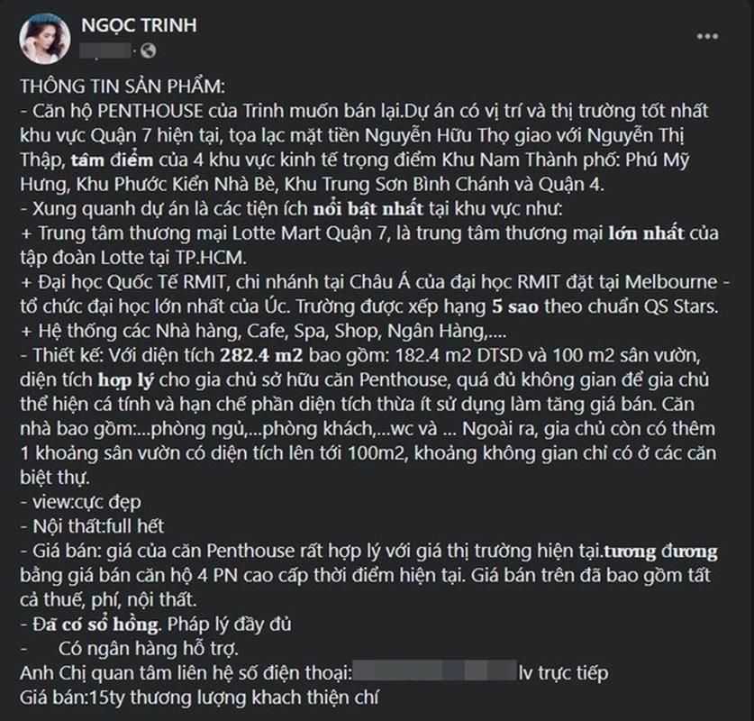 Ben trong can penthouse 15 ty dong Ngoc Trinh vua rao ban