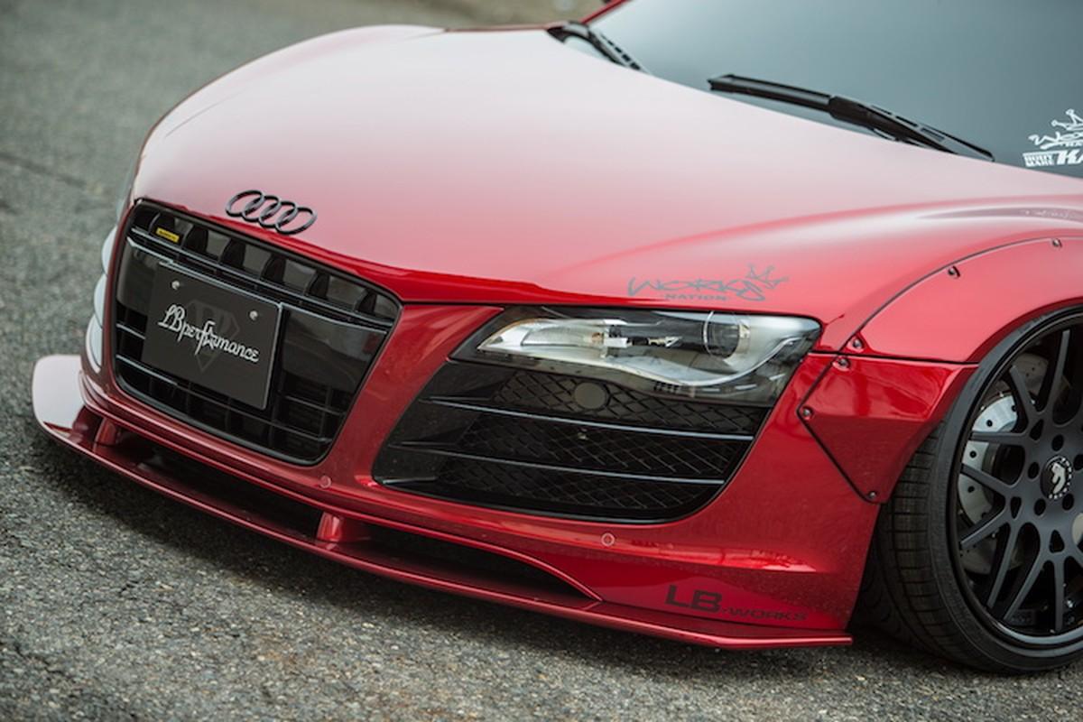 """Audi R8 """"do het bai"""" widebody Liberty Walk hon 700 trieu-Hinh-2"""