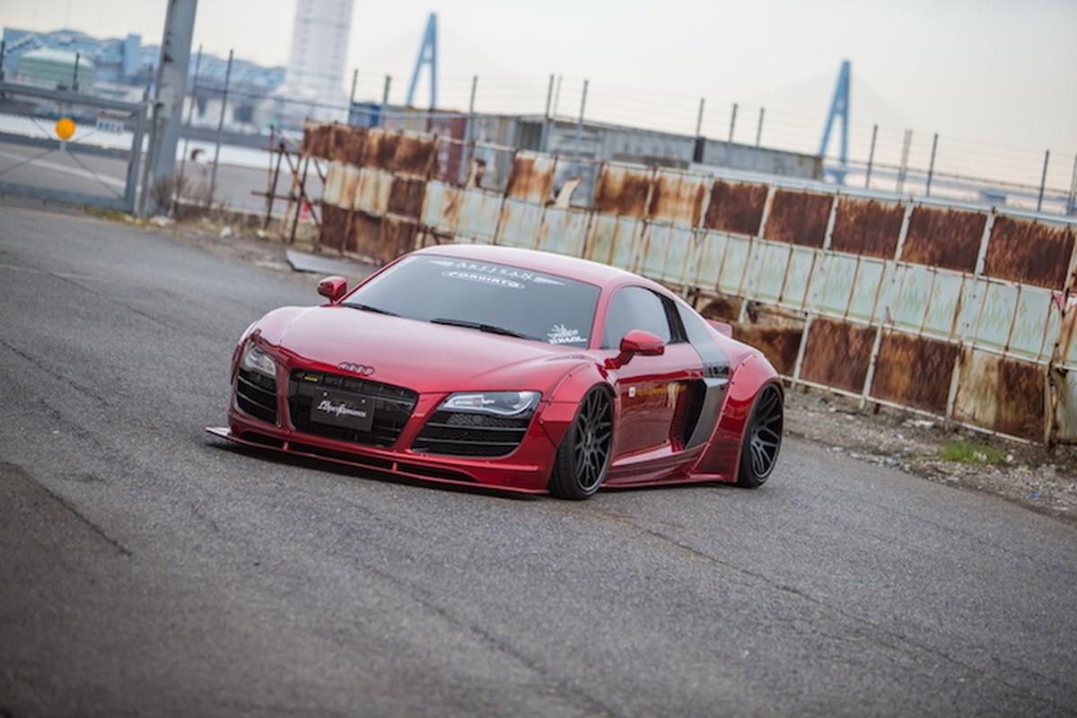 """Audi R8 """"do het bai"""" widebody Liberty Walk hon 700 trieu-Hinh-8"""