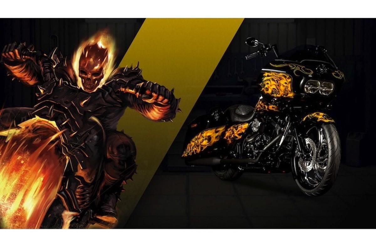 Dan xe no Harley-Davidson phong cach sieu anh hung Marvel-Hinh-2