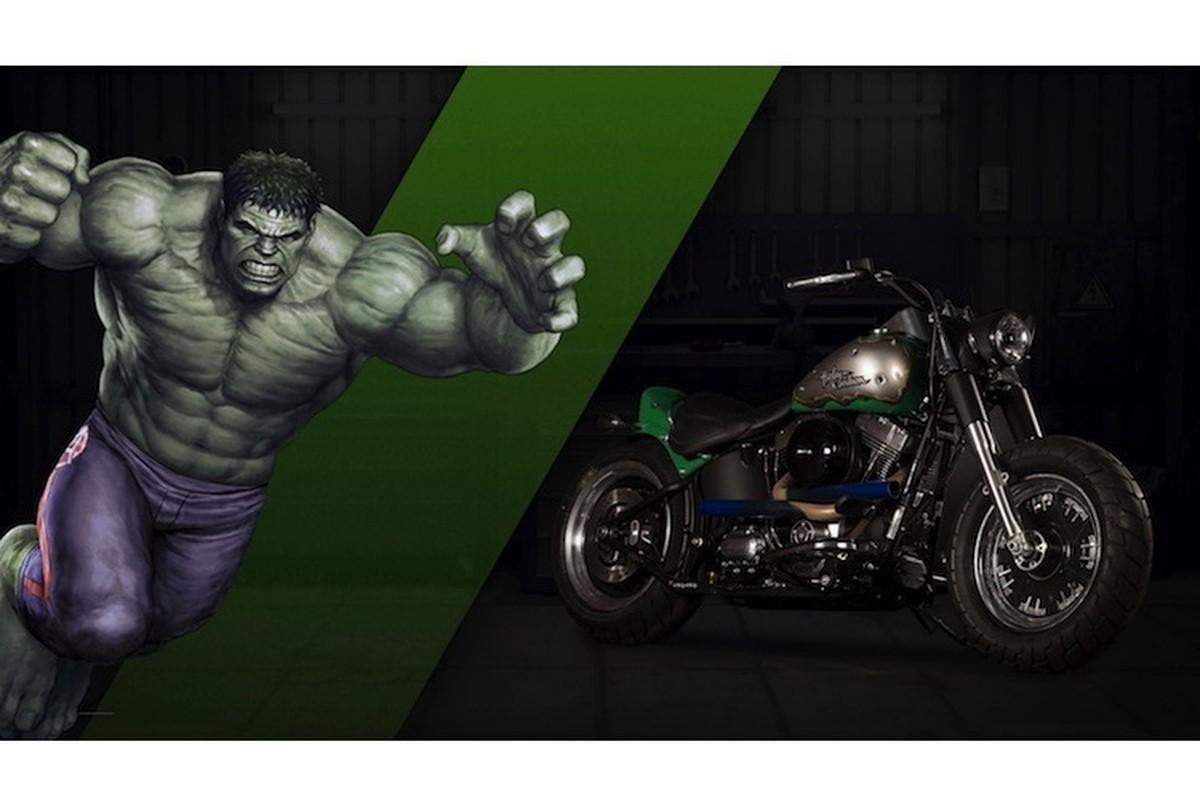 Dan xe no Harley-Davidson phong cach sieu anh hung Marvel-Hinh-3