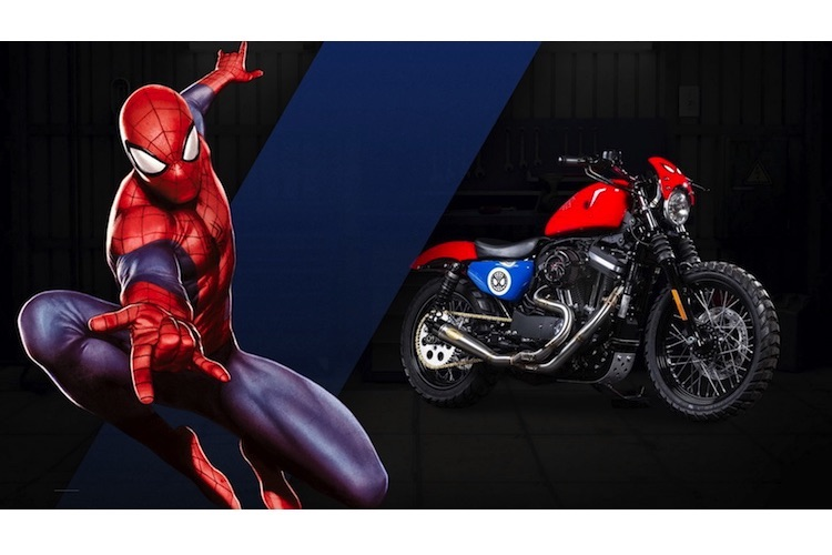 Dan xe no Harley-Davidson phong cach sieu anh hung Marvel-Hinh-4