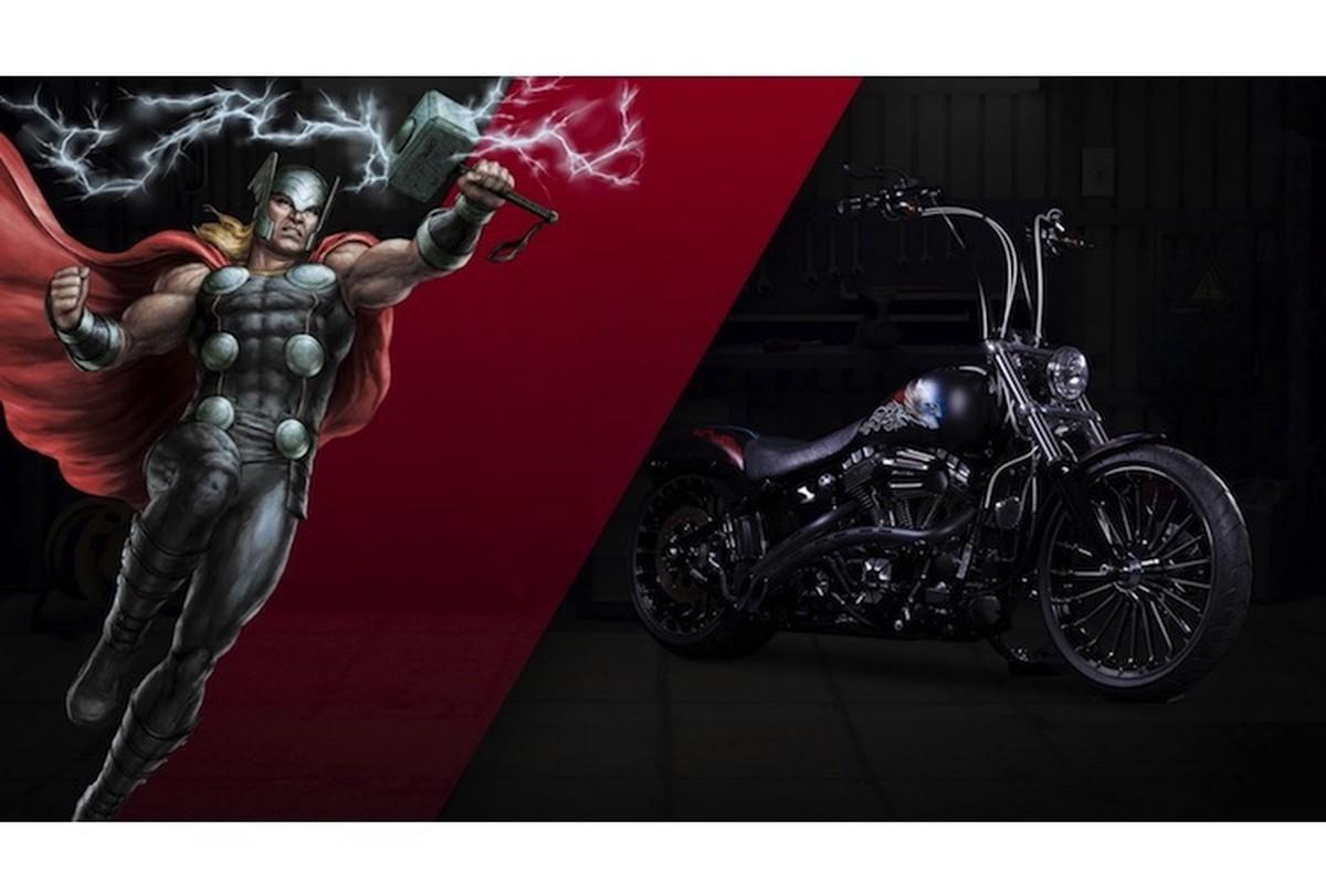 Dan xe no Harley-Davidson phong cach sieu anh hung Marvel-Hinh-7