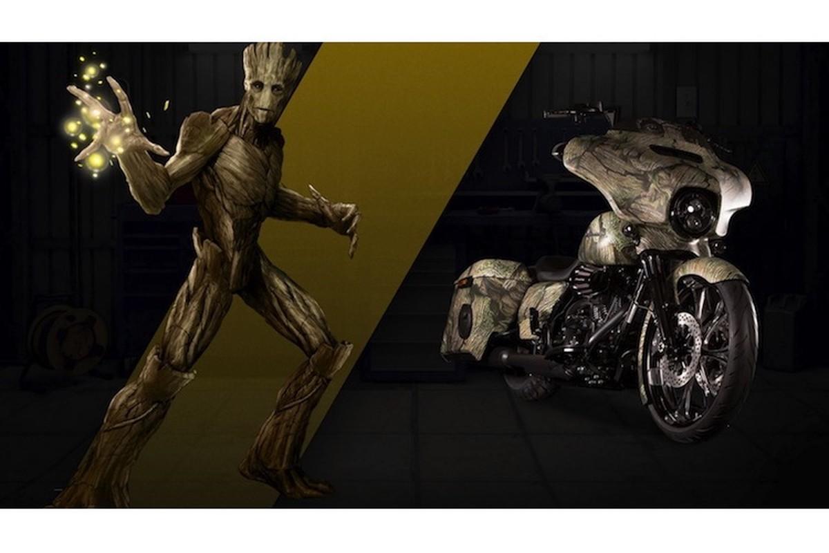 Dan xe no Harley-Davidson phong cach sieu anh hung Marvel-Hinh-8