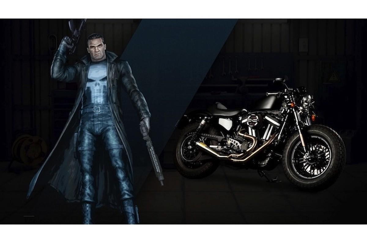 Dan xe no Harley-Davidson phong cach sieu anh hung Marvel-Hinh-9