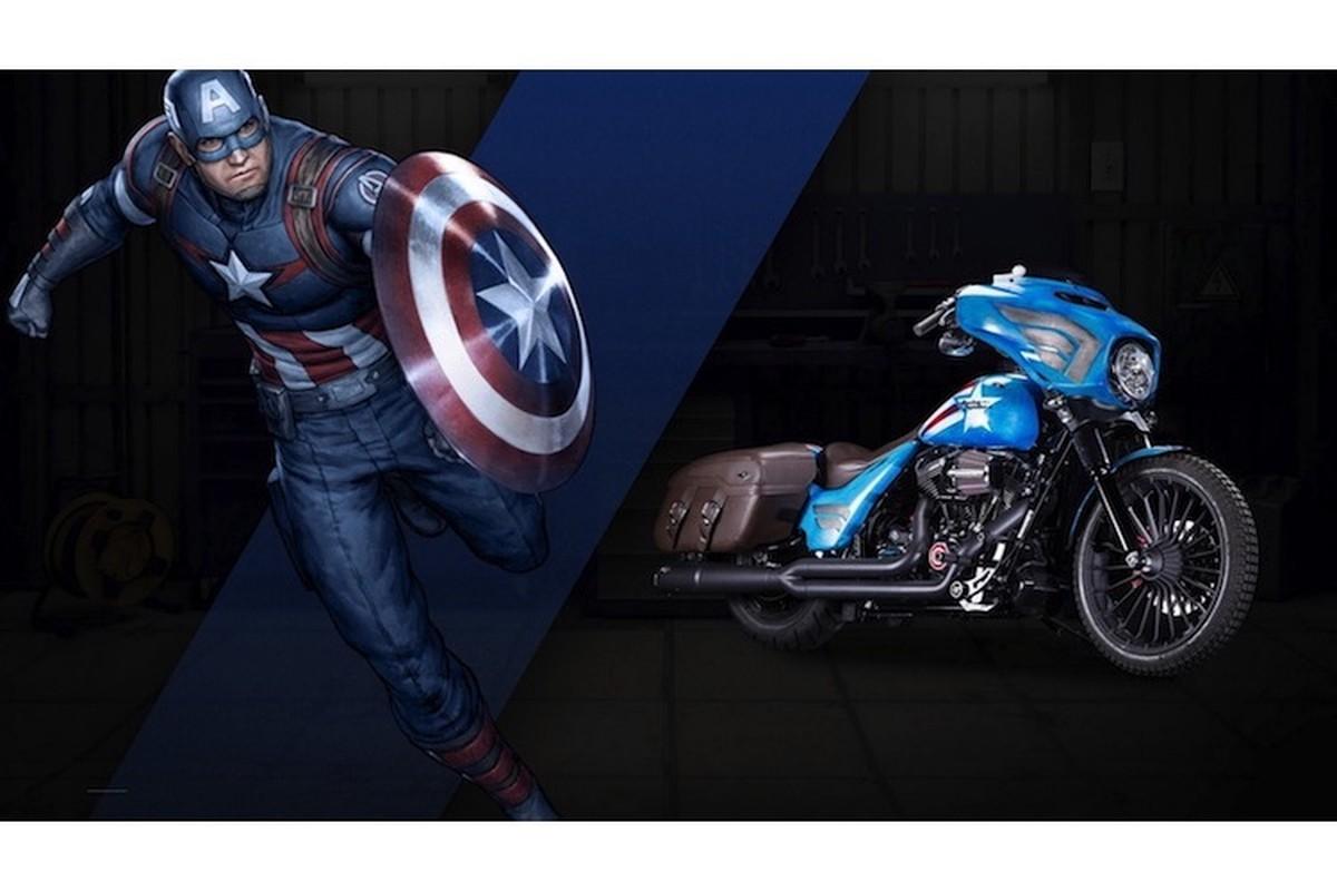 Dan xe no Harley-Davidson phong cach sieu anh hung Marvel