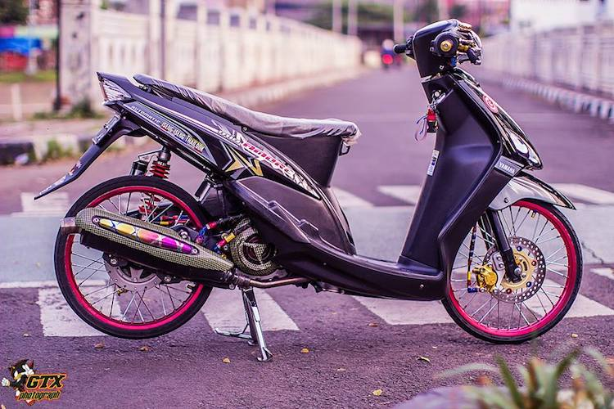Scooter Yamaha Mio doi dau do drag kieng cuc chat-Hinh-5