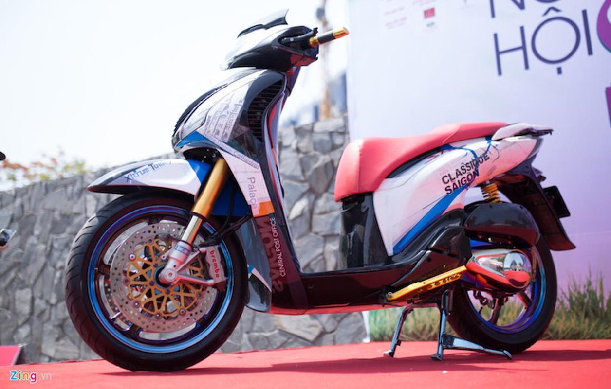 """Honda SH do khung o Sai Gon """"khoe hang"""" tai Ha Noi-Hinh-2"""