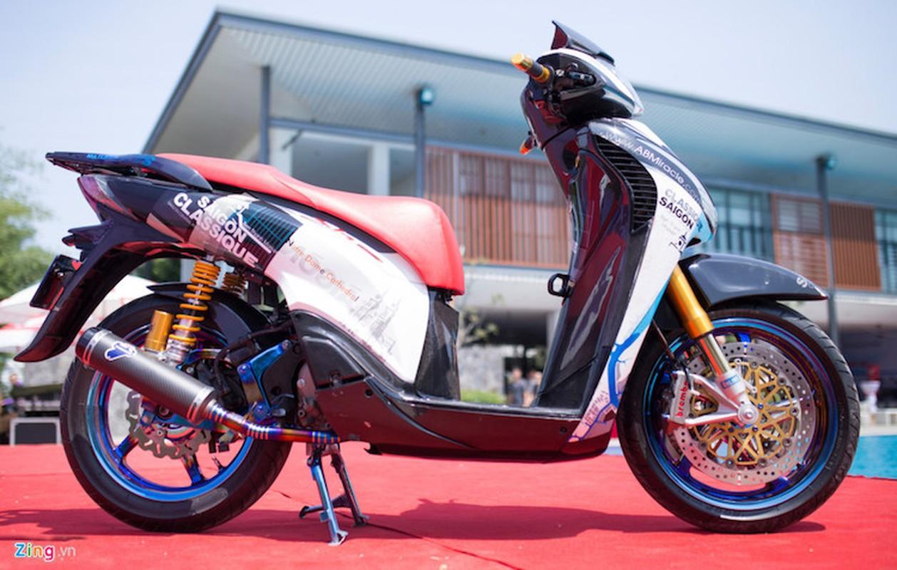 """Honda SH do khung o Sai Gon """"khoe hang"""" tai Ha Noi-Hinh-9"""