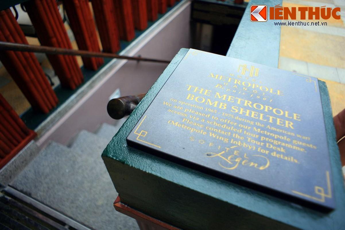 Soi can ham tru bom bi an trong khach san Metropole Ha Noi