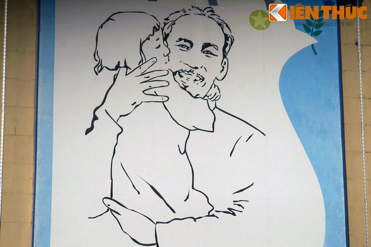 Bi mat sau buc tranh Bac Ho o goc pho dep nhat Ha Noi-Hinh-7