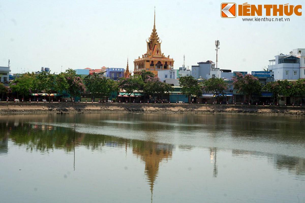 Kien truc doc la cua chua Khmer dep nhat thanh pho Can Tho