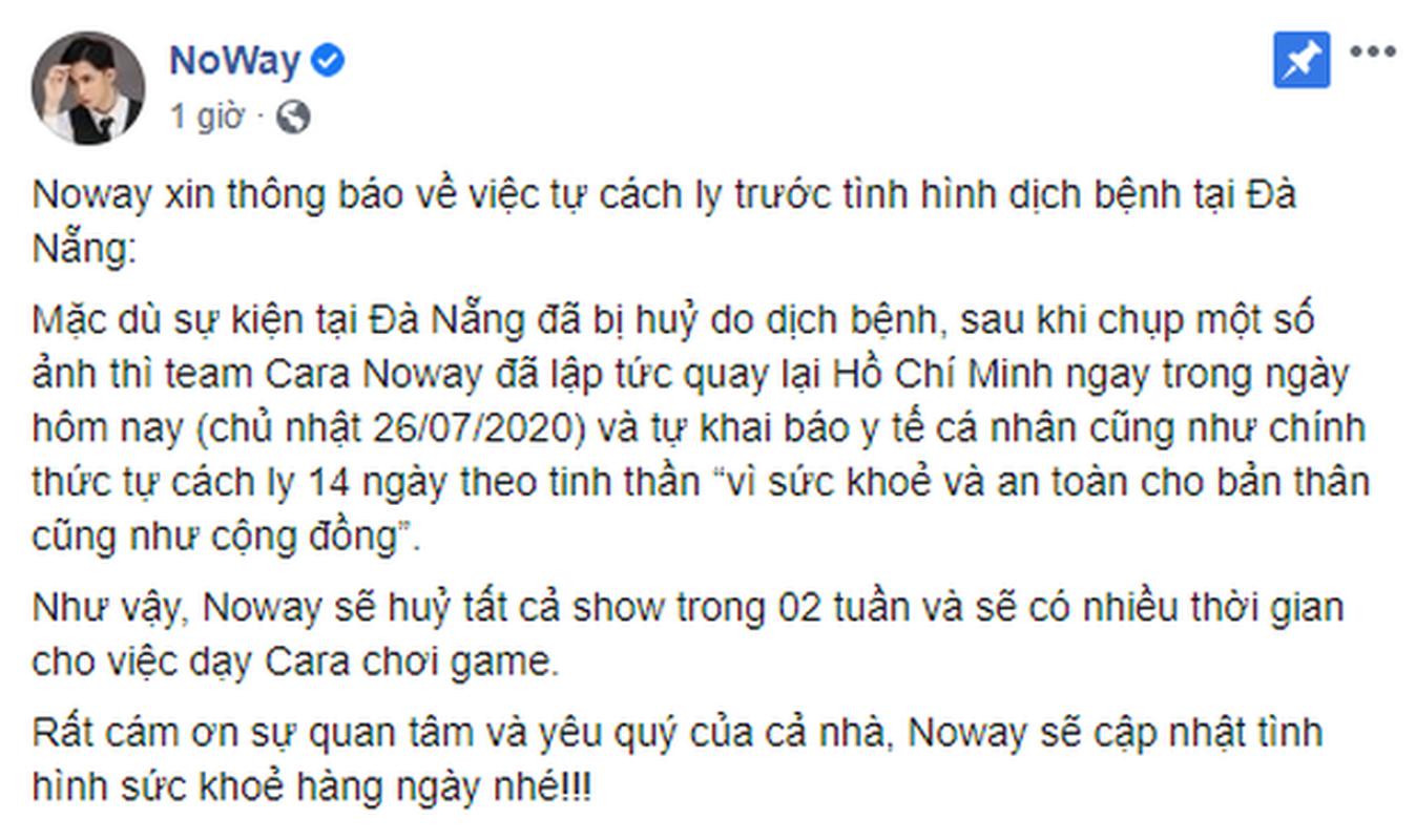 """Cung nhau cach ly, Cara Phuong va Noway duoc CDM tranh thu """"day thuyen"""""""