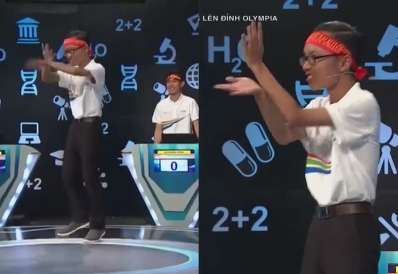 Hanh dong la, dan thi sinh Duong len dinh Olympia gay xon xao MXH-Hinh-10