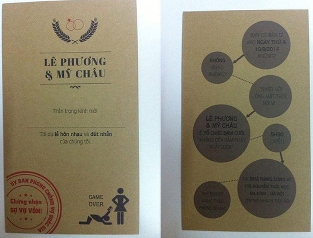 """Khoe gia the """"khung"""" tren thiep cuoi, co dau chu re gay xon xao-Hinh-4"""