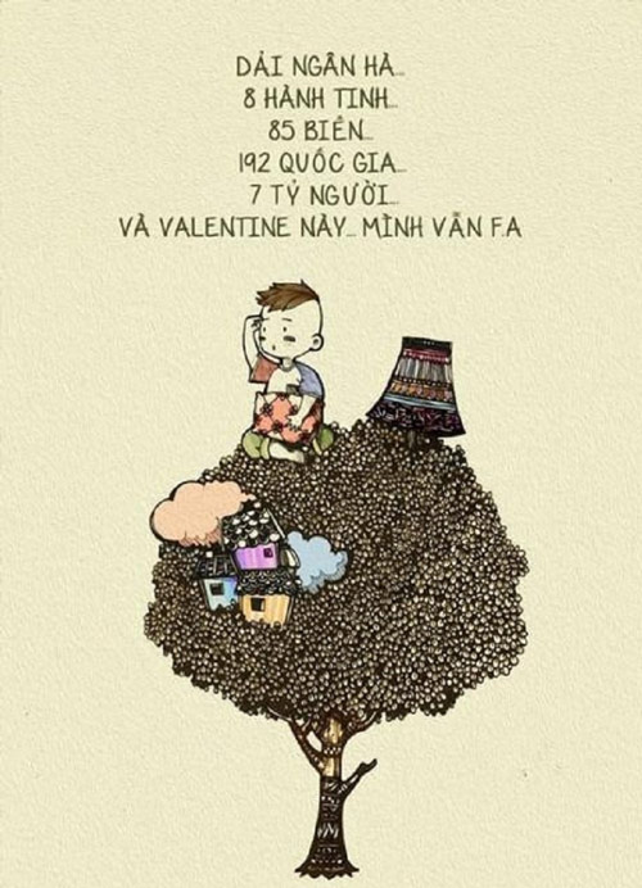 "Anh che hai huoc ve hoi ""e sac e"" trong ngay Valentine"