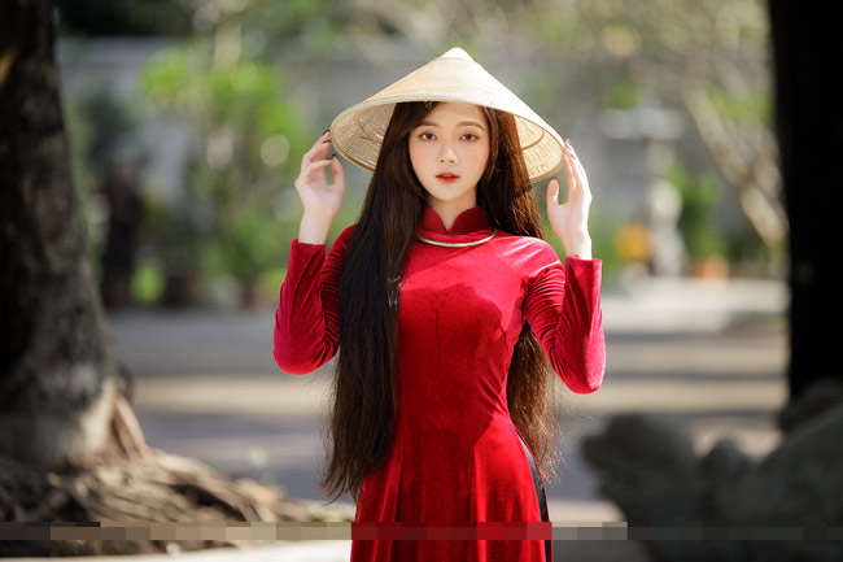 """Hot girl anh the"" khoe dien ao dai do dep ngat ngay-Hinh-6"
