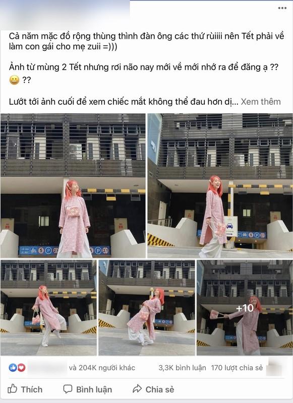 """Hau Hoang """"be lai"""" dien ao dai va cai ket bi """"nem da""""-Hinh-2"""