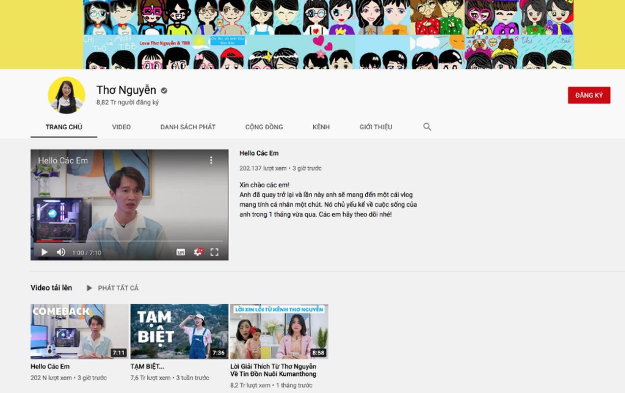"""Kenh YouTube Tho Nguyen bat ngo """"hoi sinh"""", su that dang sau la gi?-Hinh-4"""