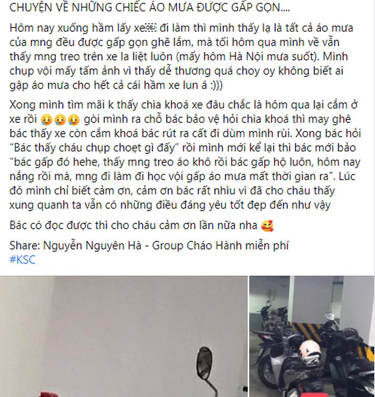 """Gap gon ao mua cho ca ham gui xe, bac bao ve nhan """"trieu like"""""""