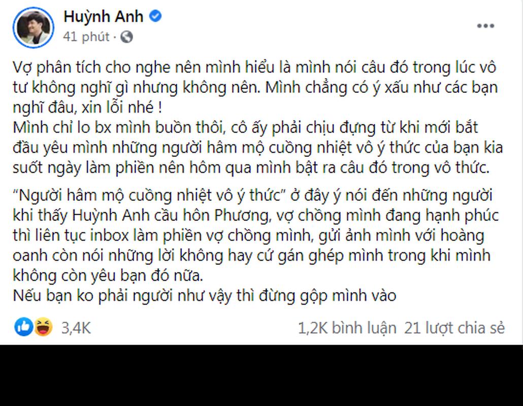 Mac ke binh luan kem duyen, Huynh Anh benh vuc ban gai moi-Hinh-4