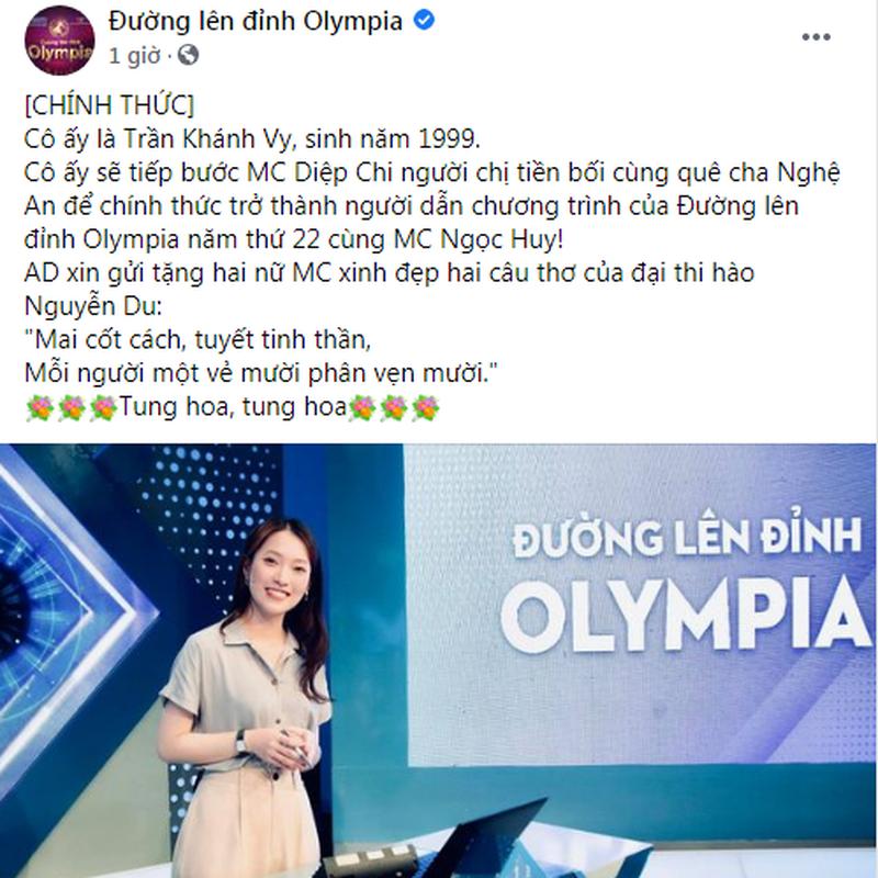 He lo danh tinh nu MC Duong Len Dinh Olympia