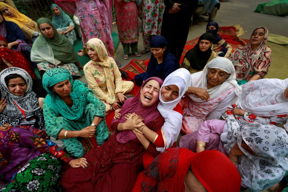 Loat anh nong ve cang thang o khu vuc Kashmir