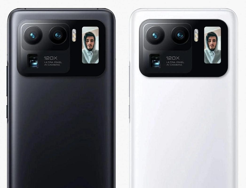 Xiaomi Mi 11 Ultra trang bi man hinh canh camera, tha ho