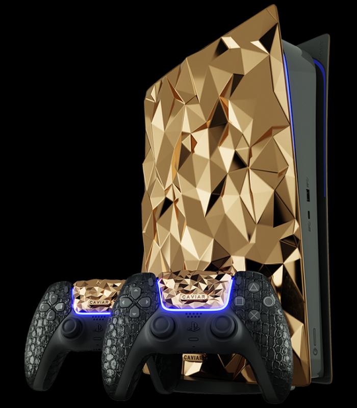 Ngam may PlayStation 5 phu 4,5 kg vang, tay cam boc da ca sau-Hinh-4