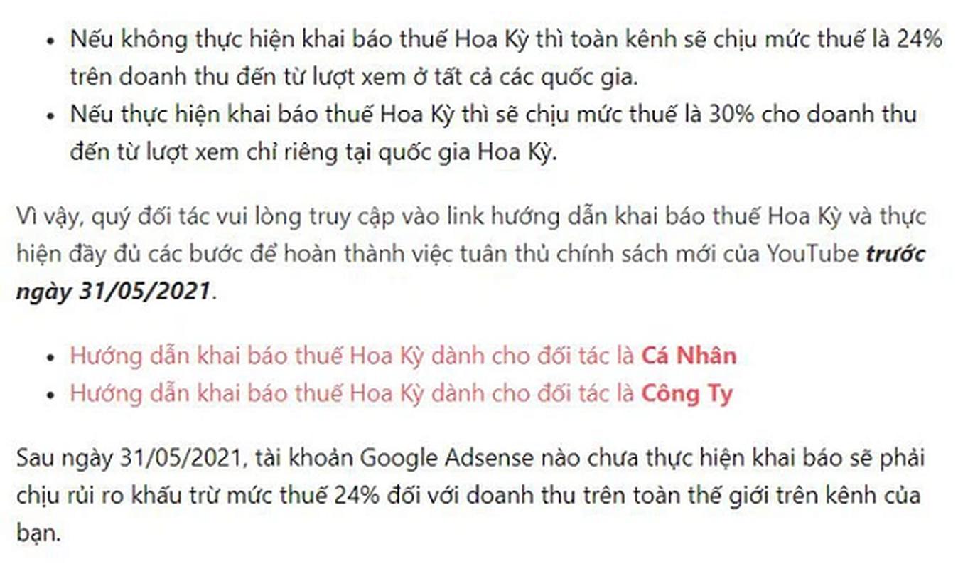 Nha sang tao Viet co anh huong khi bi Youtube danh thue 30%?-Hinh-4