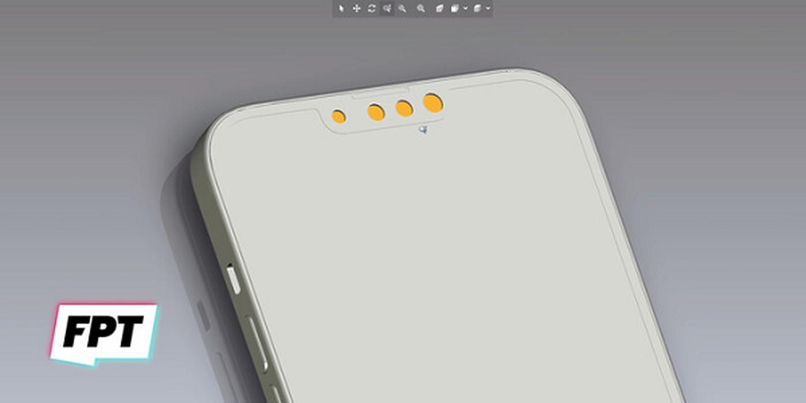iPhone 13 bat ngo xuat hien mau cam dep la, camera xep cheo