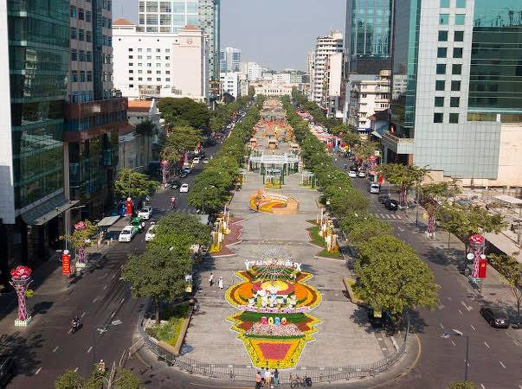 Chiem nguong duong hoa Nguyen Hue truoc ngay khai mac-Hinh-2
