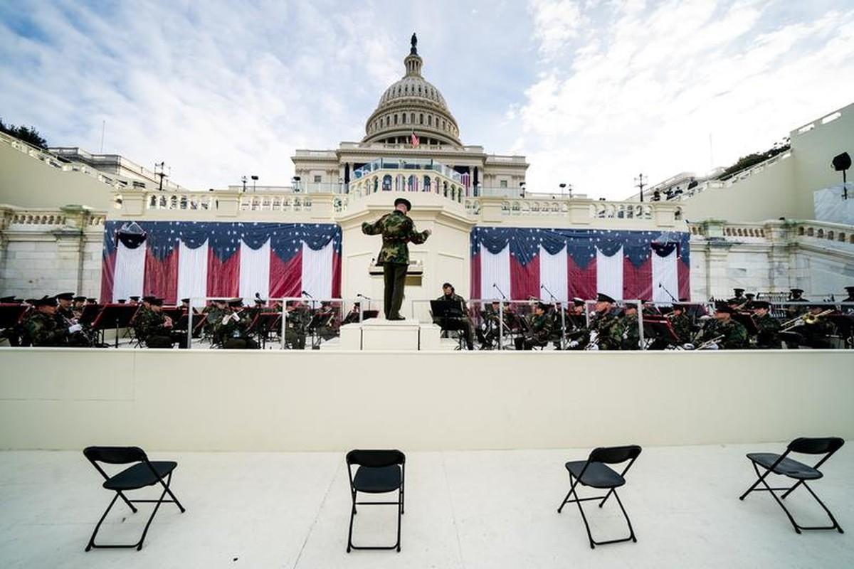 My dien tap le nham chuc cua Joe Biden ngay khi Doi Capitol con chua sua xong-Hinh-7