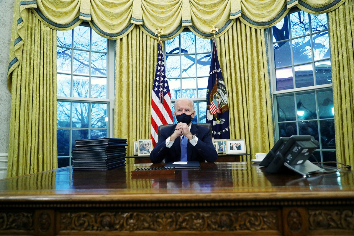 Van phong lam viec cua ong Joe Biden trong bon nam toi