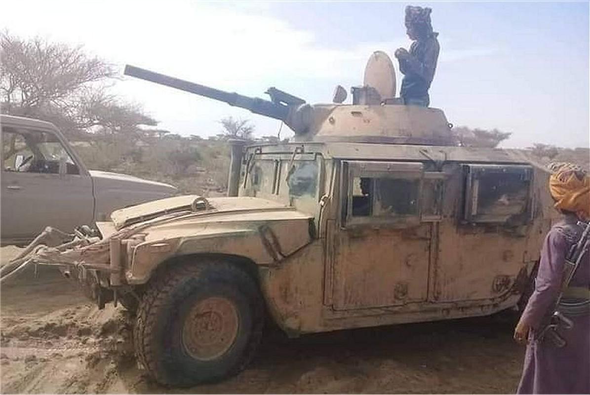 Chien truong Syria: Gan thap phao BMP-1 gan tren thung xe ban tai-Hinh-5