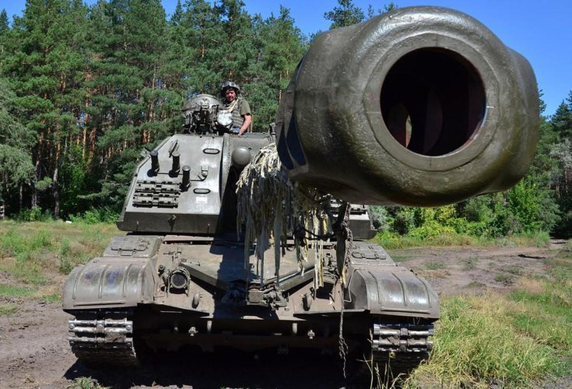 Ukraine bat ngo keo hang dan phao tu hanh 152mm toi Donbass-Hinh-11