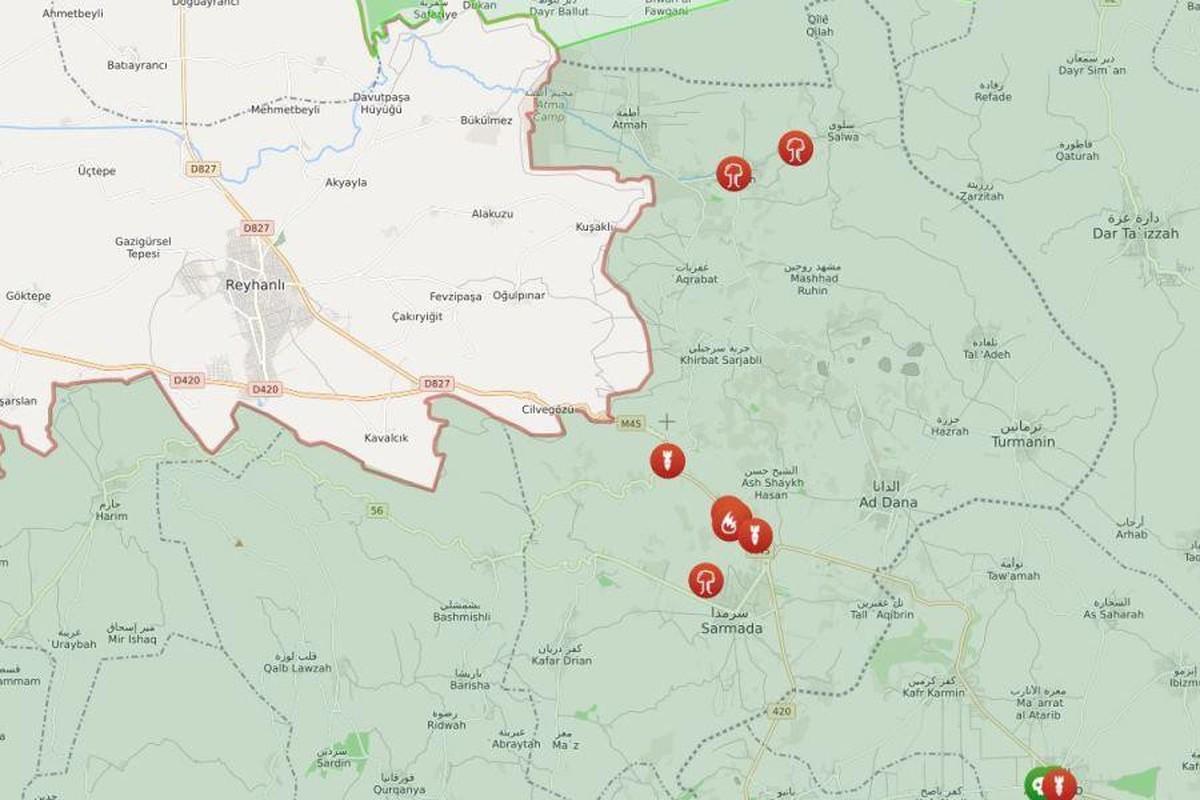Chien dau co Su-34 Nga doi bom, nua tinh Idlib chim trong bien lua-Hinh-4