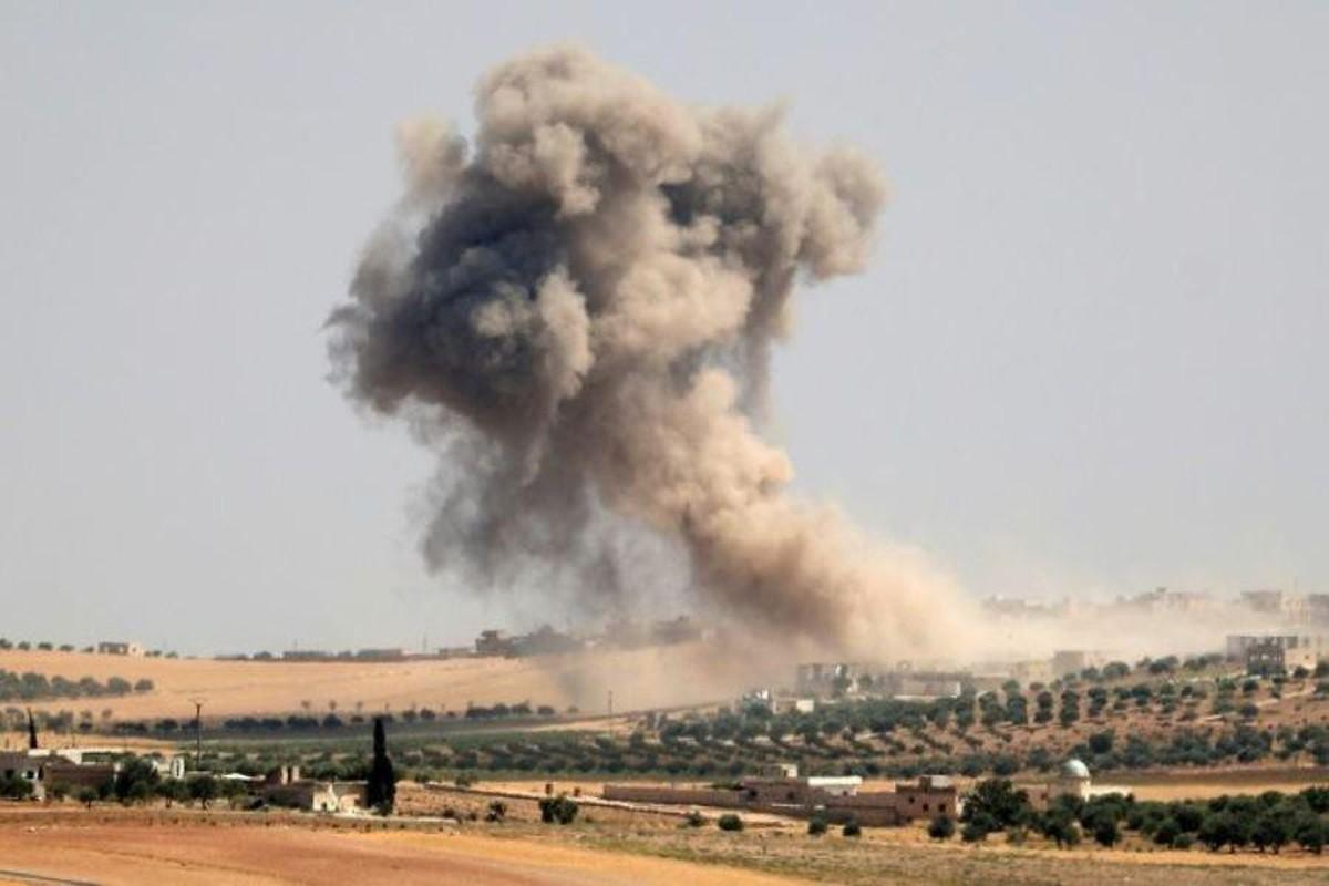 Chien dau co Su-34 Nga doi bom, nua tinh Idlib chim trong bien lua-Hinh-8